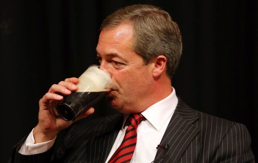 Nigel Farage thinks the press portrays him as always drowning his sorrows in beer, so here's a gallery of him doing just that