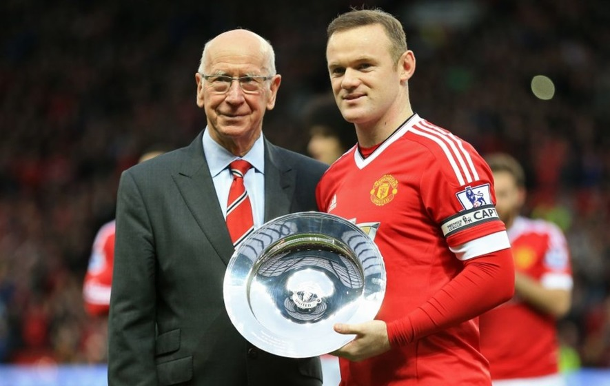 Who did it best: Wayne Rooney or Sir Bobby Charlton? - The ...  Who did it best...