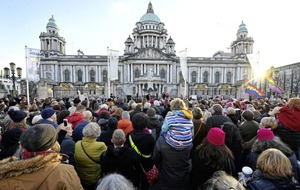 Belfast protesters join in global march of defiance against Donald Trump