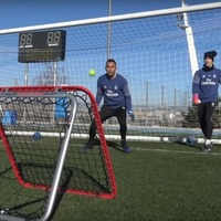 It takes hard work, weights and lots of tennis balls to become a Real Madrid goalkeeper apparently