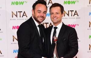 Ant and Dec become first winners at National Television Awards... obviously!