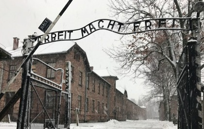 Something is. auschwitz concentration camp theme simply