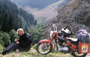 Writer, traveller, pilot and motorcycle fan Geoff Hill takes off again with The Butler's Son
