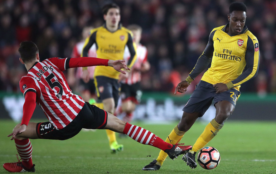 Walcott delighted with hat-trick in Cup demolition of Southampton