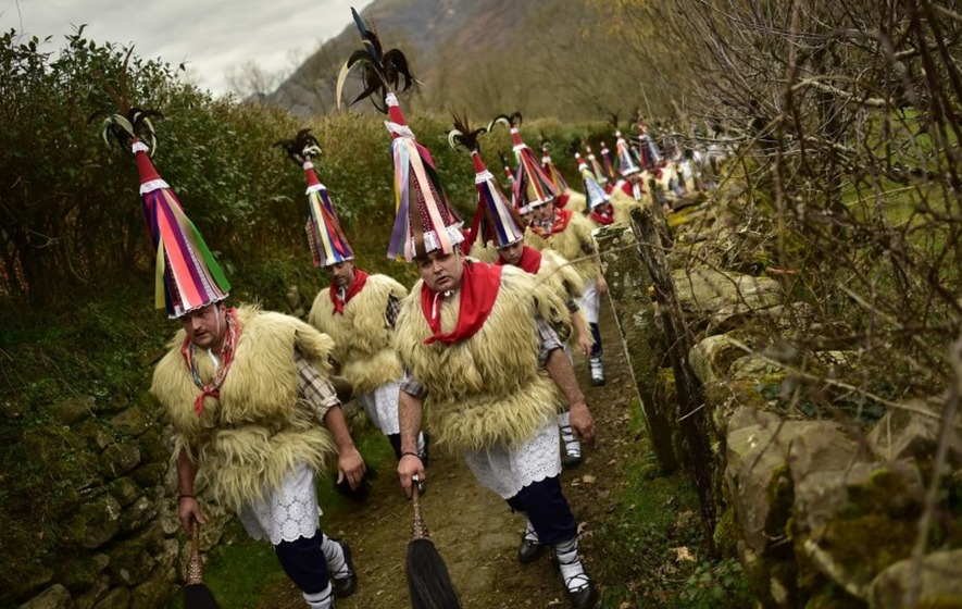 Check out the outlandish outfits from this ancient festival in Spain