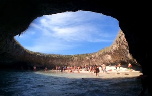Video: See the incredible hidden beach in Mexico that you have to swim underwater to get to