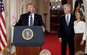 Trump tells Senate Republican leader to 'go nuclear' if political gridlock stalls his Supreme Court pick