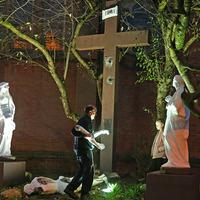Landmark statue of Christ on Belfast's Falls Road removed after damage
