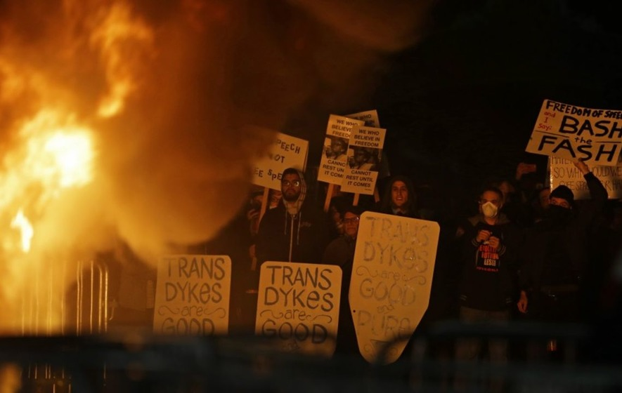 Protests erupted at a US university when Breitbart editor Milo Yiannopoulos was due to visit