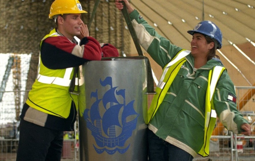 Builders at the O2 arena accidentally dug up and damaged the Blue Peter time capsule 33 years early