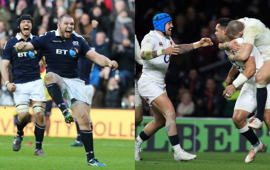 Scotland shocked Ireland and England edged past France in a thrilling opening day of Six Nations rugby
