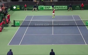 Video: Britain won its Davis Cup tie in the worst way after Denis Shapovalov smashed a ball into the umpire's face
