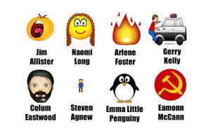 Stormont's politicians reimagined as emojis