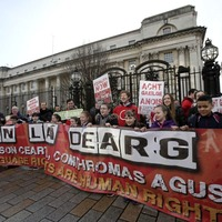 Irish language campaigners protest outside High Court