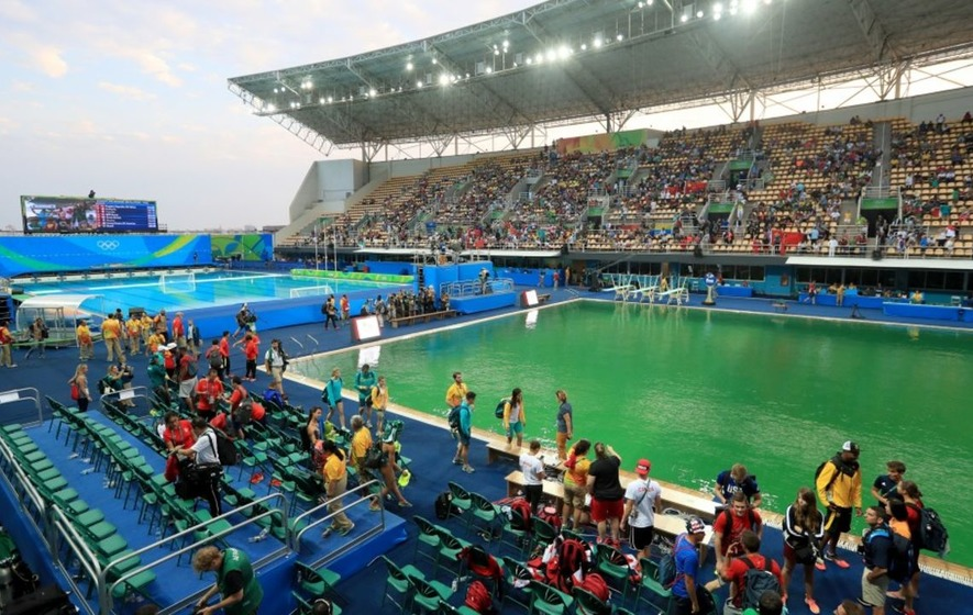 Six Months On Another Rio Olympic Pool Has Turned An Intriguing Colour