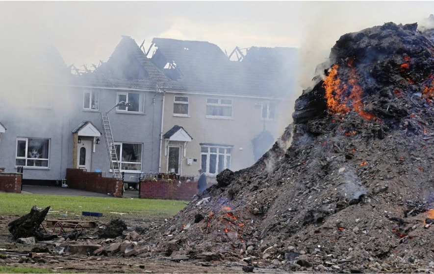 PSNI urged to investigate Belfast bonfire that gutted homes