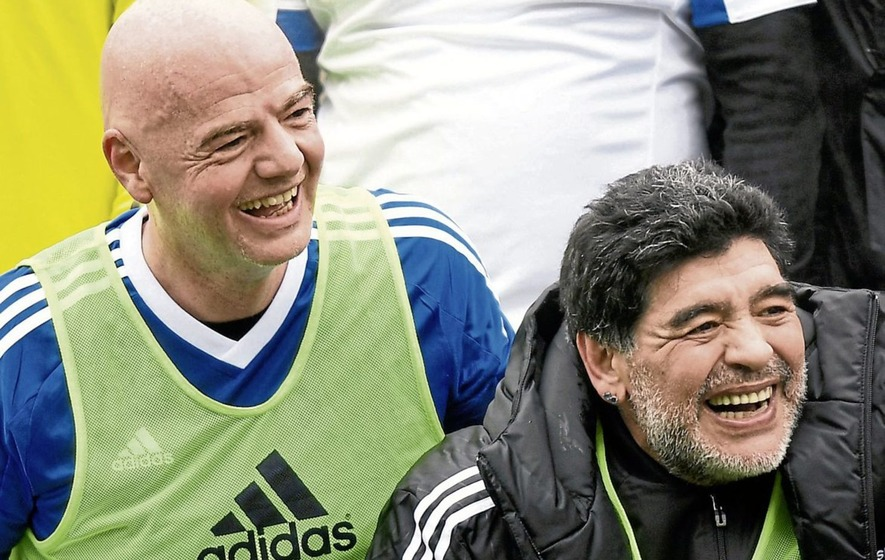 Dodgy Tackle: Maradona keeping his powder dry with new ambassador role at Fifa