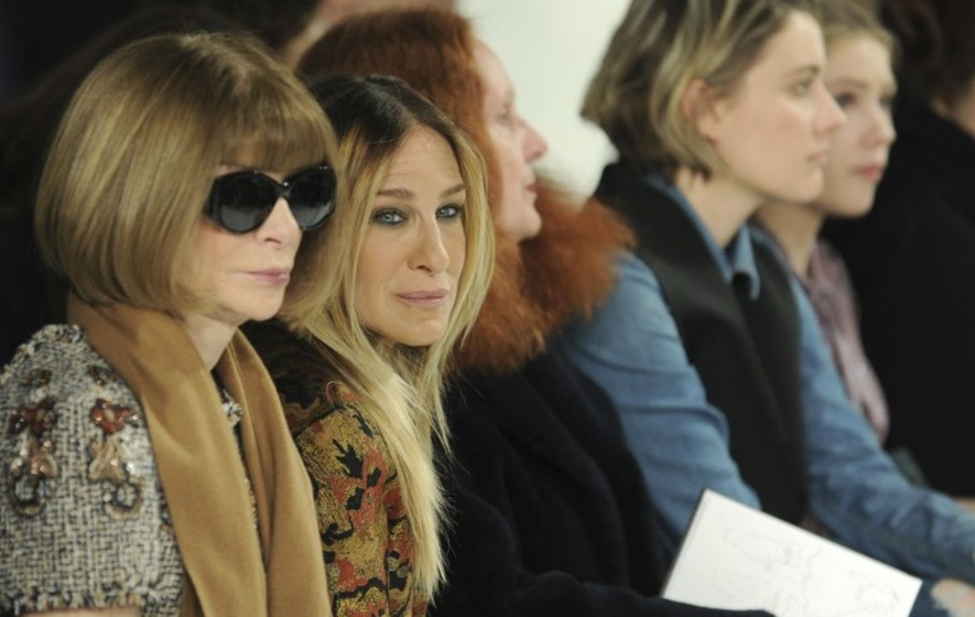 Snow storms can't keep celebrities from the New York Fashion Week front row