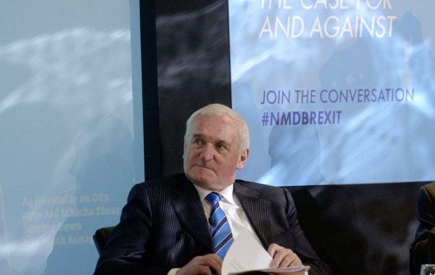 Bertie Ahern: Theresa May 'switching her language' over border