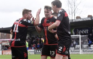 Crusaders remain seven clear at top of table after narrow win over Ballymena
