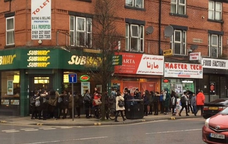 People are sacking off the traditional Valentine's meal to queue up outside Subway for a free sarnie