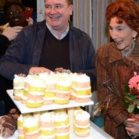 EastEnders' June Brown cleans up at 90th birthday party