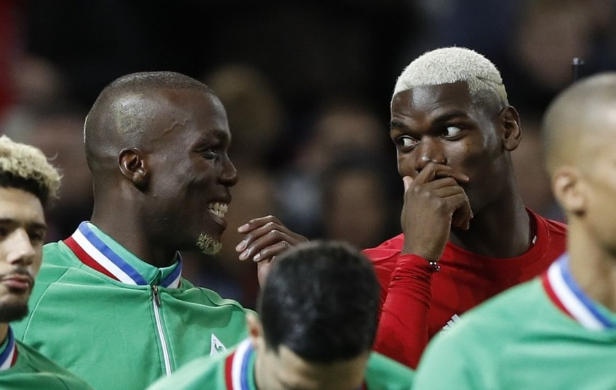 Viewers loved the Pogba brothers' mum trying to remain impartial with a half-and-half shirt