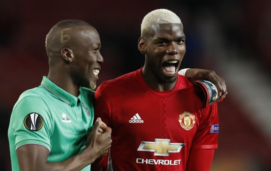 Paul Pogba danced with his family to #LaPogbance after a Pogba-dominated Europa League game