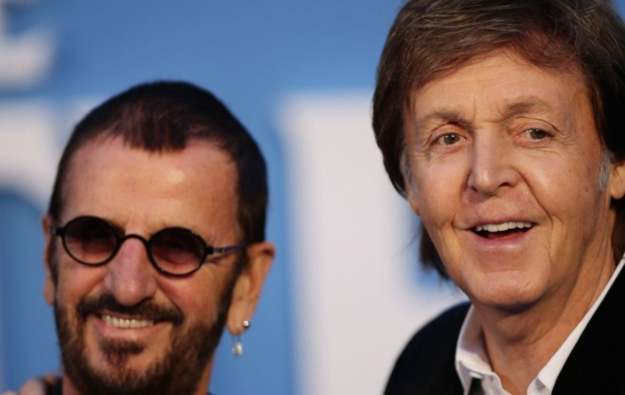 Paul McCartney And Ringo Starr Come Together For Studio Session