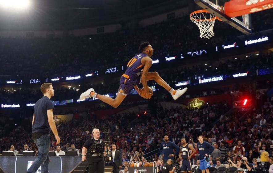 The NBA Slam Dunk Contest: DJ Khaled, an Intel drone and some very, very big jumps