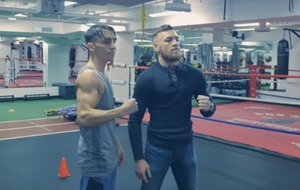 VIDEO: Conor McGregor stepped up his boxing training with an Olympic medallist in California