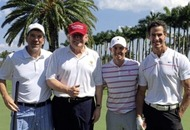Rory McIlroy plays a round with Donald Trump