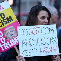 See the scenes in London as hundreds gather to protest against Donald Trump state visit protest