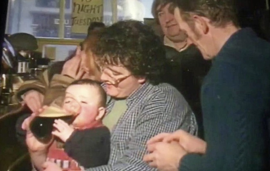 'Pint baby' found after 20-year-old film clip goes viral