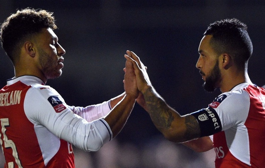Video: Theo Walcott's pre-game controversy against Sutton rather overshadowed his 100th Arsenal goal