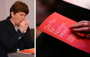 Sinn Féin and Gerry Adams centre stage at DUP manifesto launch