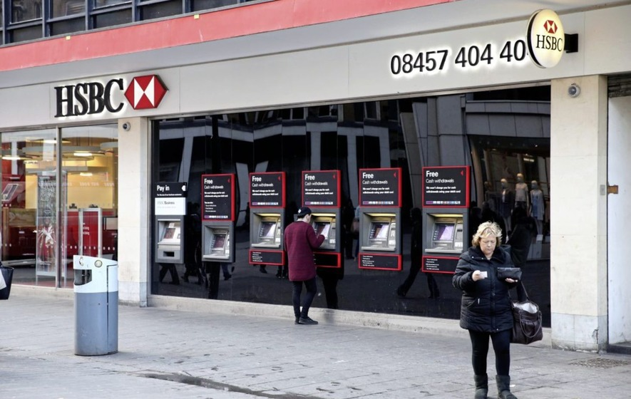 HSBC drags down FTSE as profits plunge