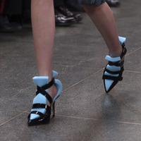 Christopher Kane debuted shoes that literally have sponges attached to them