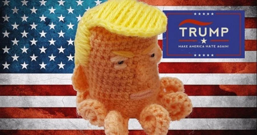 woman crocheting Donald Trump voodoo pincushions has been getting ...