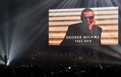 Coldplay's Chris Martin duets with George Michael in Brits tribute