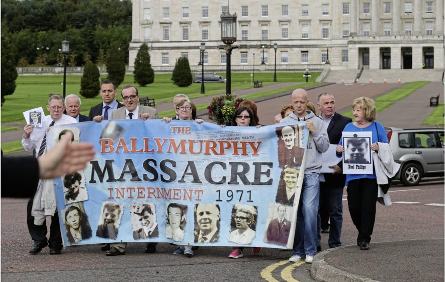 Coroner tells Ballymurphy hearing that funding dispute is obstructing progress on Troubles-linked inquests