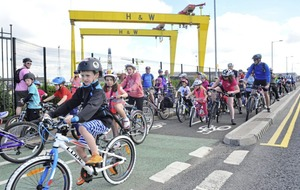 Sustrans fun family cycle to Belfast Children's Festival