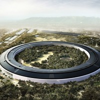 Apple's new headquarters will open in April and features a tribute to Steve Jobs