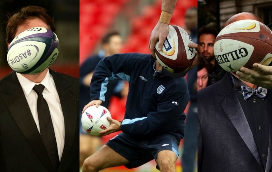 Quiz: Can you spot which famous rugby fans are hiding behind the balls?