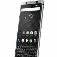 The new BlackBerry smartphone has a touchscreen and keyboard