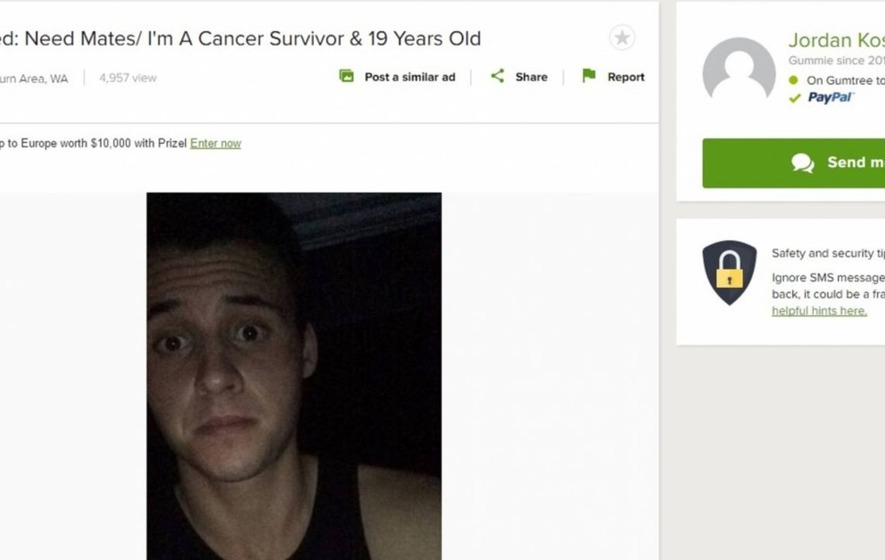 This cancer survivor posted a heartbreaking ad to Gumtree searching for friends after being bullied