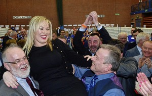 #AE17 Mid Ulster: Sinn Fein leader Michelle O'Neill tops the polls with major victory