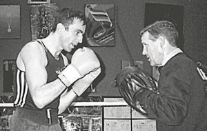 In The Irish News on Mar 6 1997: Movie star Daniel Day-Lewis drops into Holy Trinity, Belfast boxing gym