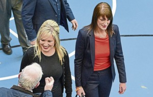 Video: Sinn Féin's Michelle O'Neill denied entry to count centre after forgetting her ID