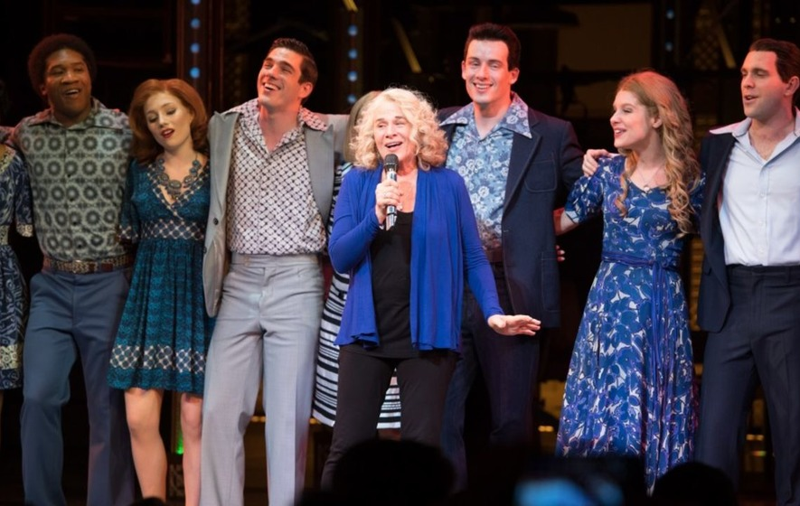 Carole King appeared on stage at her own musical last night